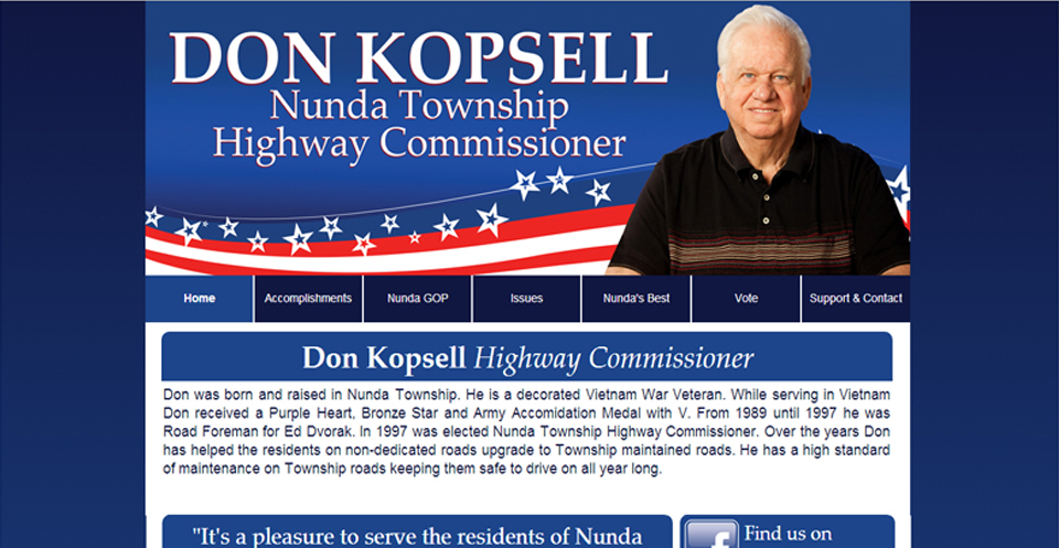Don Kopsell Re-Election Website