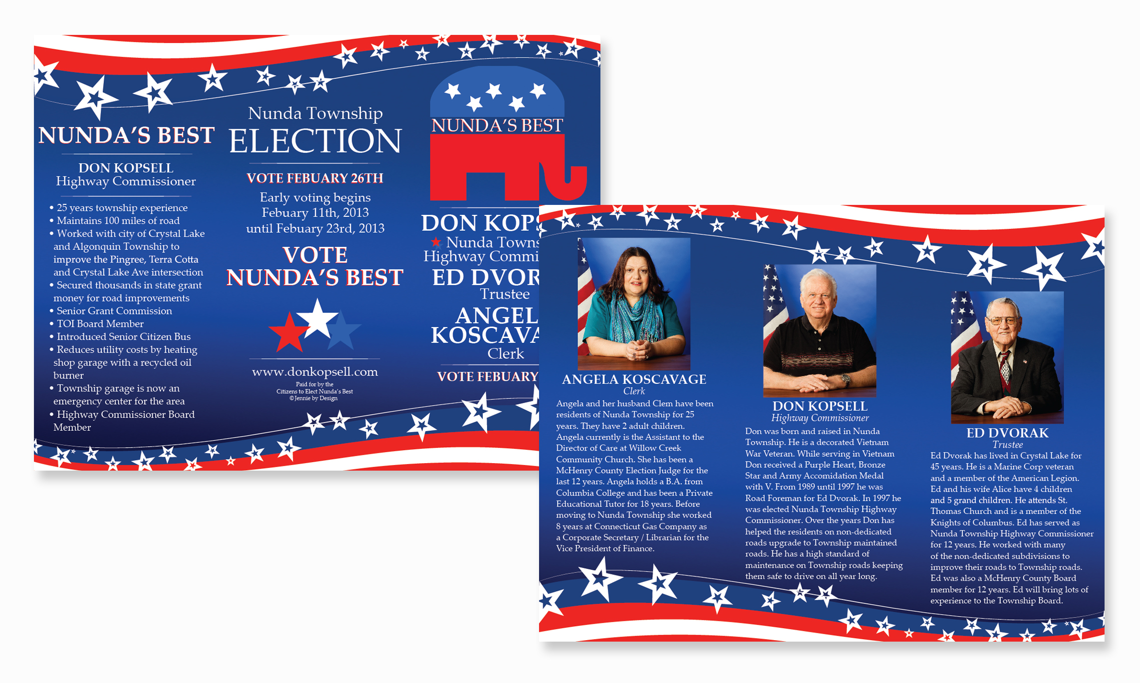 Election brochure for Political brochure templates